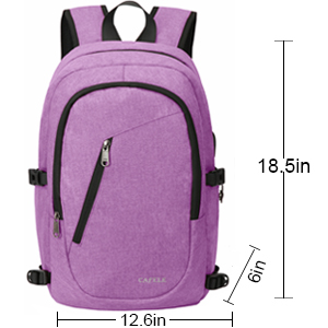 Anti Theft Water Resistant College Student School Bookbag Carry On Daypack for Work Travel Campus