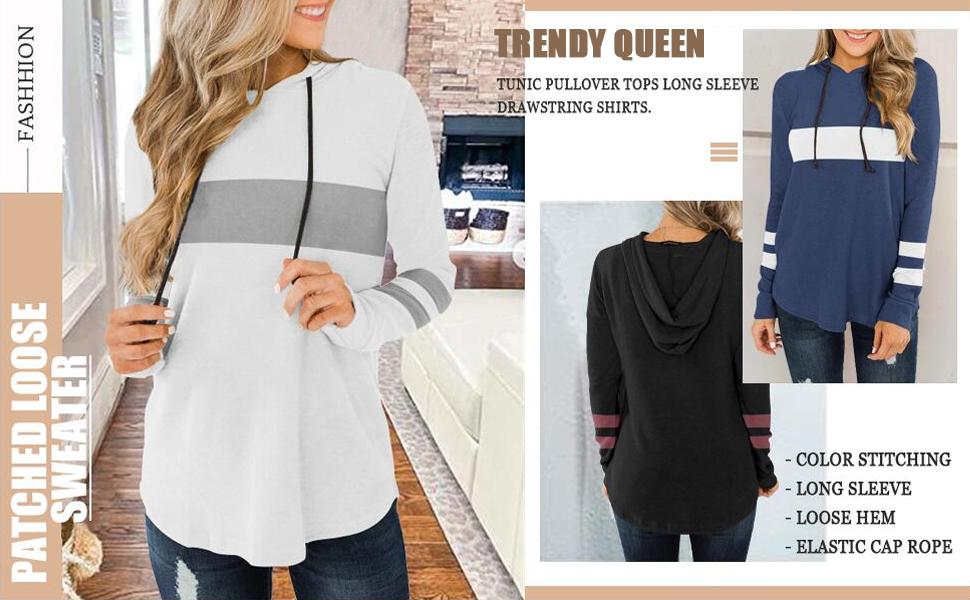 color block hooded sweatshirts