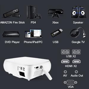 1080p native projector outdoor