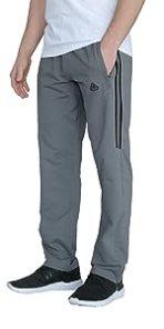 SCR SPORTSWEAR Men's Striped Sweatpants Workout Training Lounge Pants with Zipper Pockets Long Tall
