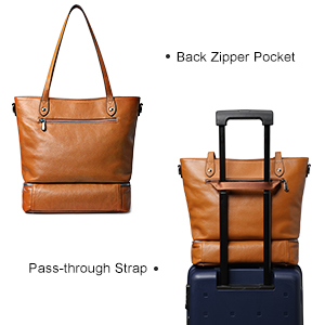A Luggage Strap in the Back Zippered Pocket for Suitcase