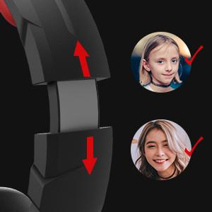 headset with adjustable headband