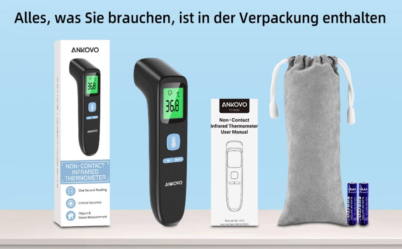 Fieberthermometer Infrarot Kontaktlos Thermometer Stirnthermometer mit LCD-Bildschirm, Speicherabruf
