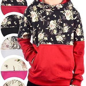 Mädchen Kapuzenpullover Sweatshirt Kapuzenjacke Sweater Hoodie