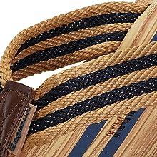 nylon color-blocking braid design