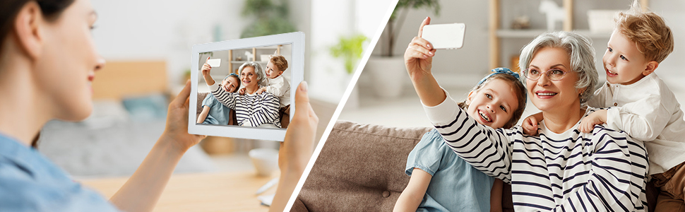 digital picture frame wifi with app