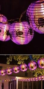 Halloween spider lantern lights