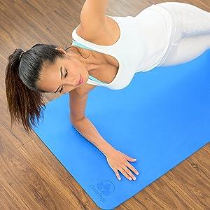 Yoga Mat Plank Posture