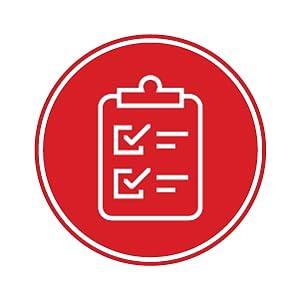 Quality assured clip board icon