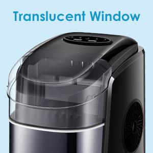 Translucent Viewing Window Ice Maker