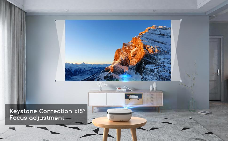 Keystone Correction 15°