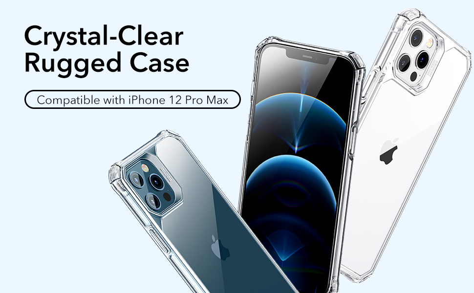 ESR Crystal-Clear Rugged Case Compatible with iPhone 12 Pro Max