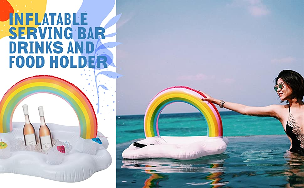 inflatable serving bar drinks and fold holder