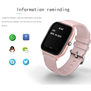 bluetooth watch message call notification SMS reminder smart watch information remind