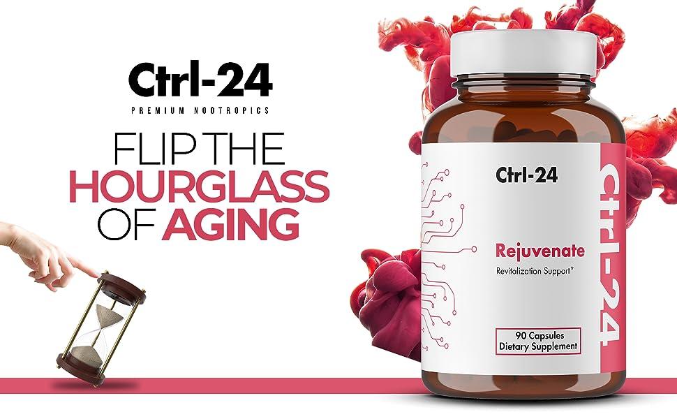 ctrl-24 rejuvenate GMP FDA made in USA Lab tested hair skin nails curcumin turmeric anti-aging