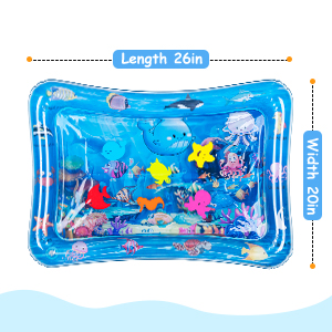 tummy time play mat size