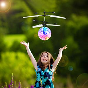 RC Flying Ball Toys Gifts  Drone Colorful Helicopter  Activities Sports Games Fun Amazing