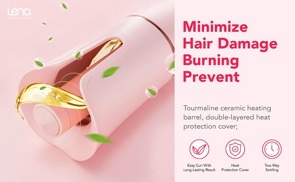 Minimiza el daño del cabello.