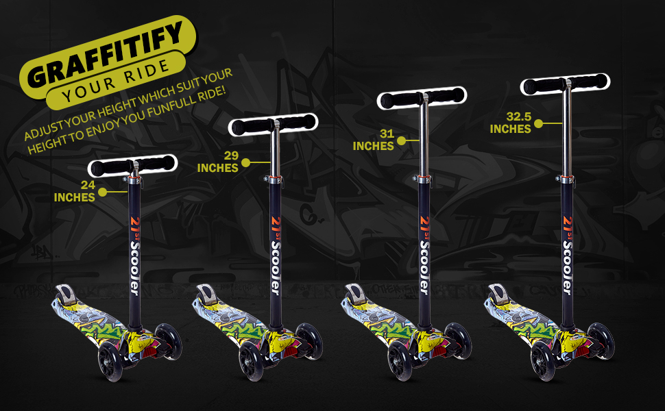 NHR newest range of 4 wheel scooters for kids