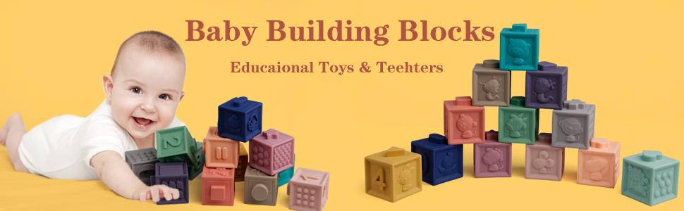 Soft building blocks baby blocks