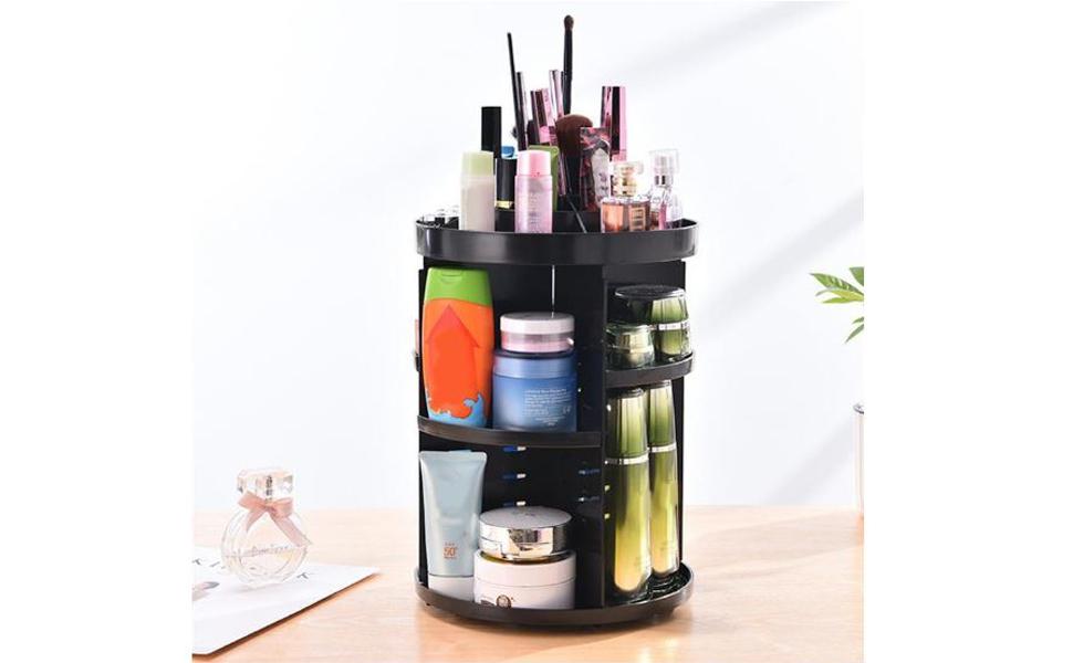 360 rotate cosmetic organizer