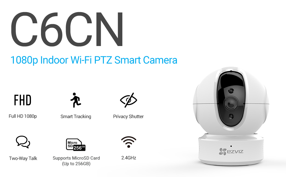 ezviz, C6CN, indoor wifi camera, smart home camera, security camera, pan and tilt