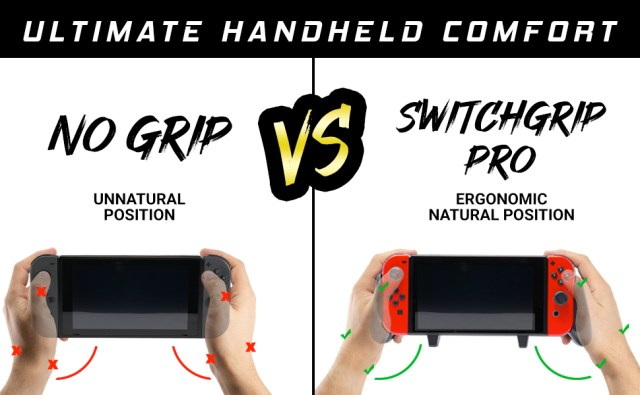 With the Satisfye pro gaming  grip, your hands are always in the perfect position.