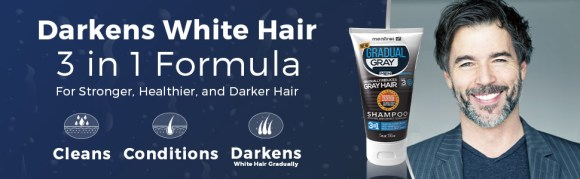 Darkens White hair - 3 in 1 formula for stronger, healthier and darker  hair