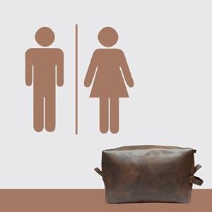 B08GN62Z6X RUBAB MEN Vegan Leather Toiletry Kits SPN FOR-1