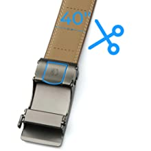 B07ZH15G21-Contacts Men's Genuine Leather Auto lock Buckle Belt SPN-FOR1