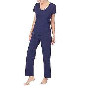 sleepwear loungewear women lounge night cotton jersey pajama comfortable soft cozy quality casual