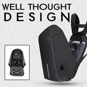 backpack backpacks bags men black antitheft secure charging port powerbank usb ports cable ltr