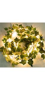 72 LED string lights with vine