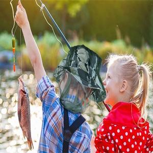 Kids Mosquito Net Fishing Hat1