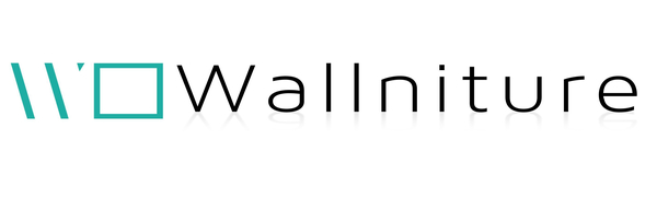 Wallniture company logo decrative wall mount yoga mat holder black home gym decor