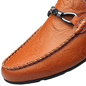 Boleone Men's Leather Casual Slip-on Loafer Driving Shoes