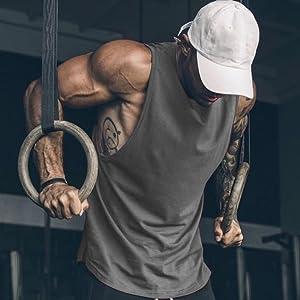 mens muscle hoodie fitness tank tops