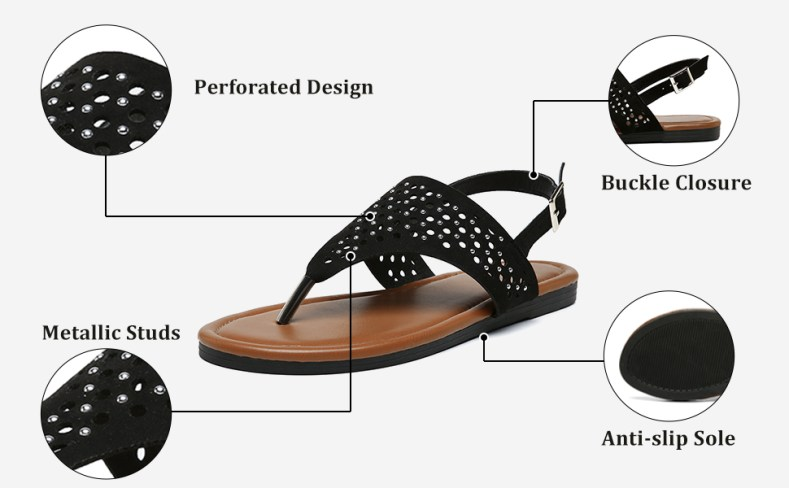 flat sandals slingback