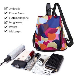 hiking daypack waterproof teens shoulder purses bagpacks overnight water resistant adult floral fall