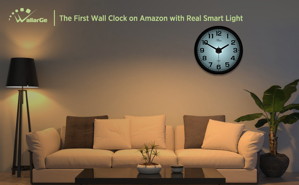 Wall Clock with Smart Light