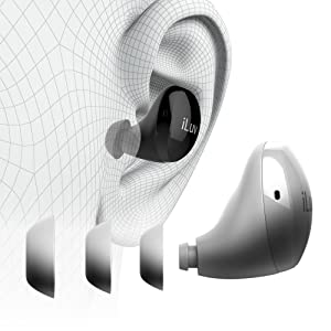 iLuv TB100 True Wireless Bluetooth Earbuds Headphones Ergonomic Waterproof IPX6