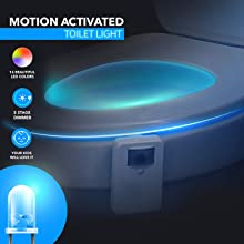 Long Lasting Motion Activated Toilet Light with 16 colors beautiful creative