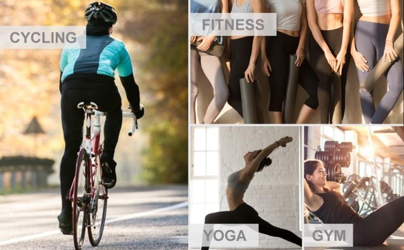 Cycle Fitness gym yoga