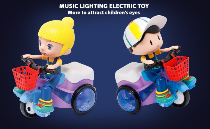 toys for boys Kids 2 year old baby toys for girls tricycle toy battery operated stunt cycle Musical