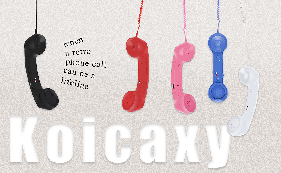 retro phone handset for cell phone
