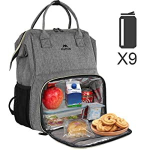 school backpack lunch bag