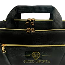 Metal Hardware Gilded Imports Laptop Bag