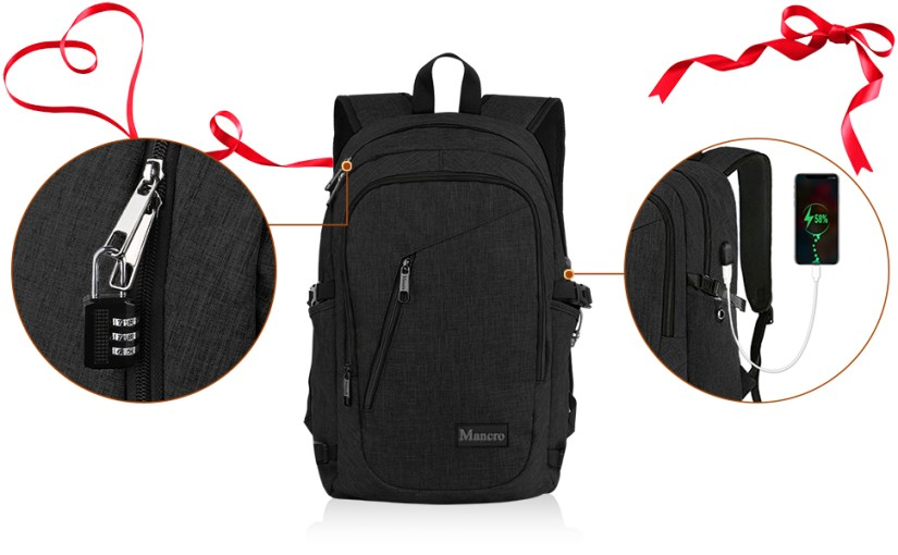 Wonderful Gift & Durable Lock & USB Charging Port