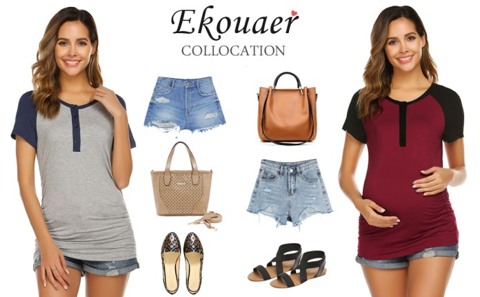 Ekouaer nursing top is willing to spend the pregnancy and lactation period with you