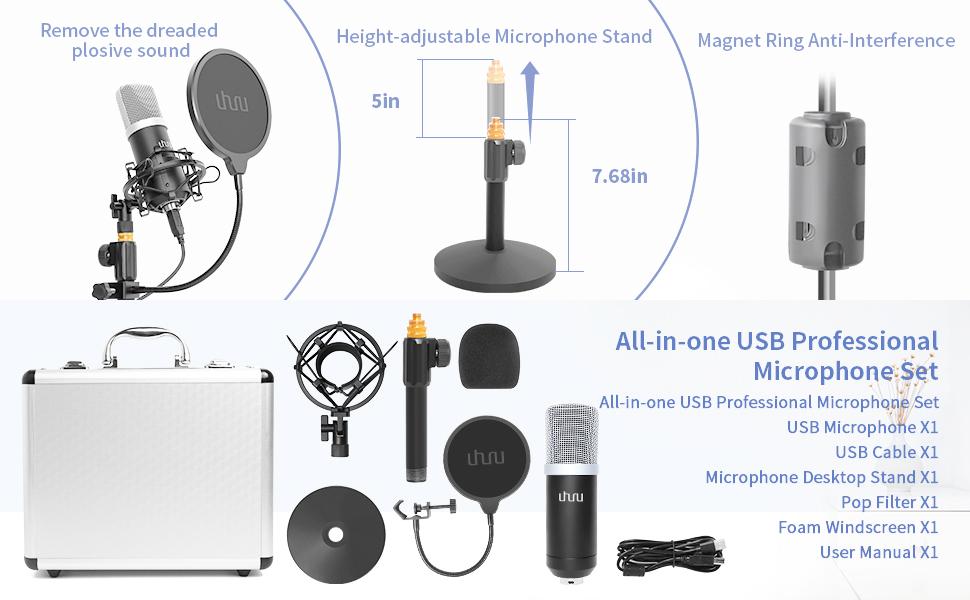 USB-Mikrofon Podcast-Aufnahme-Set